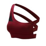 Brassière de yoga - Trois bandoulières dans le dos - rouge - taille S