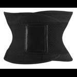 Ceinture de compression gainante sauna - Du S au 3XL noir
