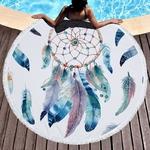 Tapis de méditation ou de plage rond - Inspiration Attrape rêve indien - 15 Motifs au choix