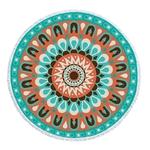 Serviette de méditation ou de plage ronde Mandal-12 motifs - ethnique - géométrique