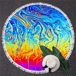 Serviette de méditation ou de plage ronde - Inspiration minérale - 12 modèles au choix - multicouleur