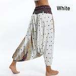 Sarouel Pantalon de Méditation - Taille Unique - Blanc