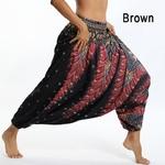 Sarouel Pantalon de Méditation - Taille Unique - Marron