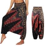 Sarouel Pantalon de Méditation - Taille Unique - Marron et or