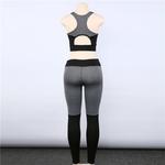Arrière Legging et Brassière de Yoga - Gris - S au L