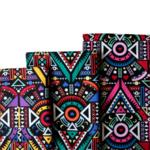 Tissu ou Nappe imprimé tribal ethnique - Coton et Lin - 3 motifs