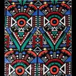 Tissu ou Nappe imprimé Tribal - Coton et Lin - 3 motifs