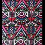 Tissu ou Nappe imprimé Tribal - Coton et Lin - rose