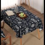 Tissu de brocart en coton - Imprimé Nature bleu marine