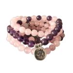 Bracelet Calme et Paix intérieur - Améthyste rose - bouddha
