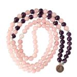 Bracelet Calme et Paix intérieur - Améthyste rose - 108 Pierres naturelles