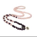 Bracelet mala Calme et Paix intérieur - Améthyste rose - 108 Pierres naturelles