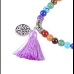 Gland arbre de vie sur brecelet mala passion yoga