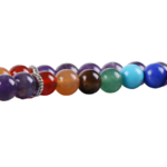 Bracelet ethnique de méditation - Améthyste - Lapis lazuli - Jade - 108 Pierres naturelles violet