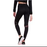 Legging et Top de Yoga à capuche avec résille - Noir