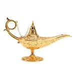 Idée déco : Lampe magique style Aladdin - Métal doré 3D
