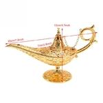 Dimensions Idée déco : Lampe magique style Aladdin - Métal doré 3D