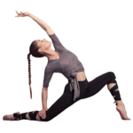 Passion Yoga - Legging de Yoga - Bandelettes à Nouer - Taille Haute - Du S au XL - Noir