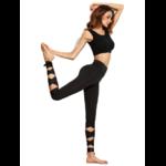 Legging de Yoga - Bandelettes à Nouer - Taille Haute - S - noir