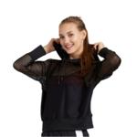 Sweatshirt à capuche - Manches longues de Yoga Noir