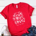 T-Shirt imprimé - Sauvons les Abeilles-rouge - S au 3XL