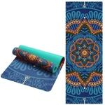 Tapis de yoga effet velours - Motifs indiens - Ecolo - 6 MM - bleu