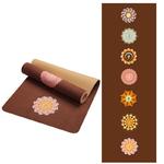 Tapis de yoga effet velours - Motifs indiens - Ecolo - 6 MM - marron