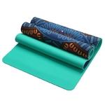 Tapis de yoga effet daim - Motifs indiens - Ecolo - 6 MM
