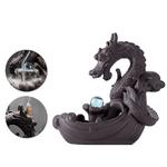 Porte-encens Dragon boule de cristal - En céramique - Avec cascade
