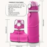 Gourde pliable - En silicone alimentaire - 750 ML - détails