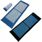 Grand Tapis et Coussin d'Acupression - 130 x 50 cm - bleu