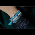 Manava - Bracelets en perles naturelles turquoise - Passion yoga