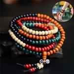 Passion yoga - AMAYA - Bracelet mala en bois de santal naturel - 108 perles bouddhiste