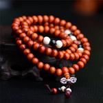 Passion yoga - bracelet bouddhiste de prière orange