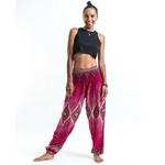Rose - Pantalon de méditation en coton -  Hippie chic