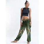 Vert - Pantalon de méditation en coton -  Hippie chic