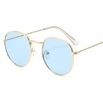 Lunettes de Soleil - Rétro - Vintage - Ronde - bleu ciel