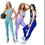 Passion yoga - Ensemble de yoga sans couture - Legging taille haute et Brassière rembourrée - S au L