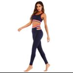 Passion Yoga - Tenue complète de yoga - Legging+brassière Tommy - Bleu marine