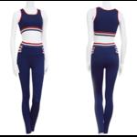 Passion yoga - Tommy - Legging + Brassière de Yoga - Bleu - Blanc - Rouge - Du S au L