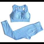 Passion yoga - Legging + Brassière - Bleu - S au L