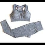 Passion yoga - Legging + Brassière sans couture et respirant - gris