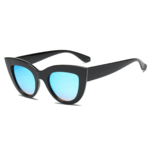 Lunettes de Soleil Vintage - Cat Eyes - Femme noir et bleu