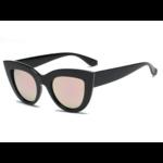 Lunettes de Soleil Vintage - Cat Eyes - Femme - Passion yoga - noire et rose