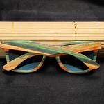 Lunettes de soleil Colorblock + Etui - Bambou naturel - Mixte