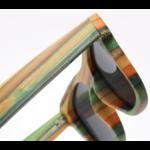 Zoom - Lunettes de soleil Colorblock + Etui - Bambou naturel - Mixte - Pour Homme et Femme