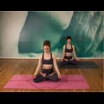 Tapis de Yoga Ecologique - Alignement corporel - Aide au positionnement rouge rose