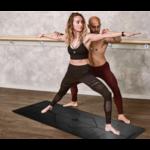 Tapis de Yoga Ecologique - Alignement corporel - Aide au positionnement noir