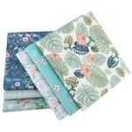 Lot de 6 carrés de tissus - Coton - Imprimés Fleurs - Masques en coton