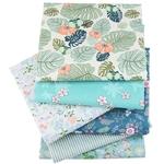Passion Yoga Lot de 6 carrés de tissus - Coton - Imprimés Fleurs Vintage pour coudre des masques